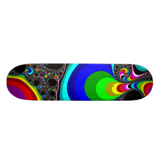Globular Rainbow - Fractal 18.1 Cm Old School Skateboard Deck
