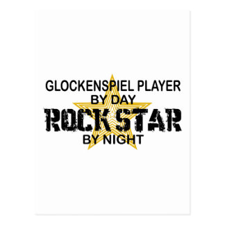 Glockenspiel Rock Star by Night Postcard