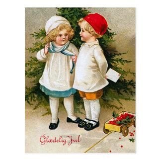 """""""Gloedelig Jul"""" Postcard"""