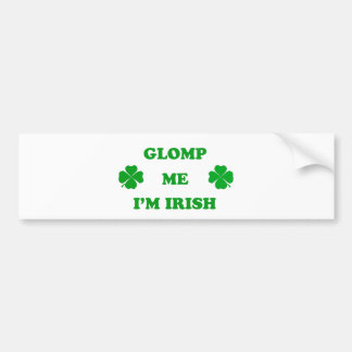 Glomp me I'm Irish Bumper Sticker