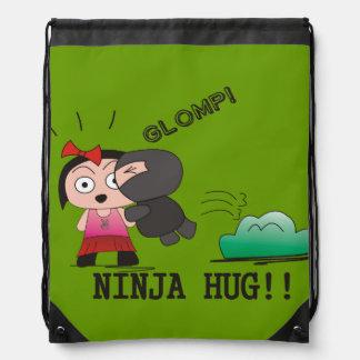 """Glomp"" Stringbag - A Nawty Ninja Design Drawstring Bag"