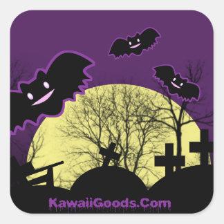Gloomy Bats Square Sticker