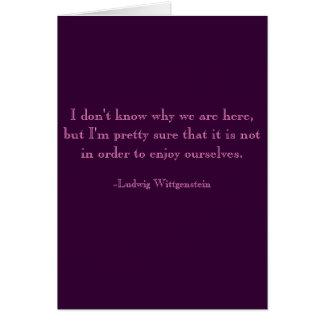 Gloomy Birthday Card, Wittgenstein Greeting Card