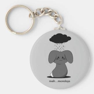 Gloomy Bunny Basic Round Button Key Ring