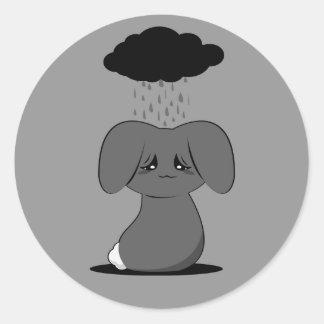 Gloomy Bunny Round Sticker