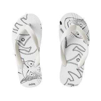 Gloomy Cat Flip Flops