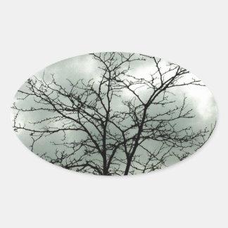gloomy day oval sticker