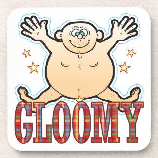 Gloomy Fat Man Drink Coaster