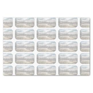 """Gloomy lake 10"""" x 15"""" tissue paper"""