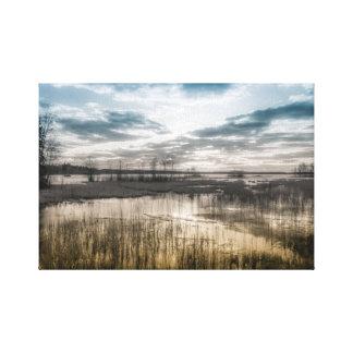 Gloomy lake canvas print