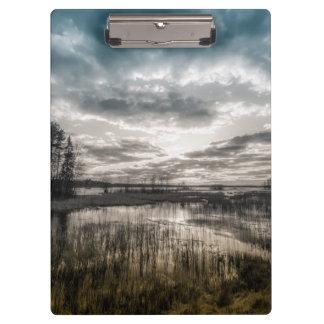 Gloomy lake clipboards