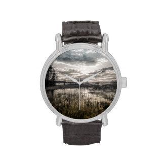Gloomy lake wrist watch