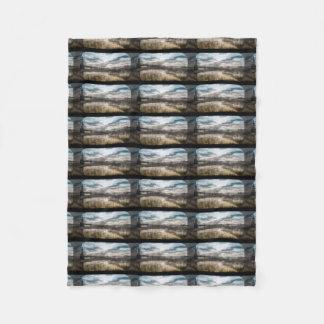 Gloomy lake fleece blanket