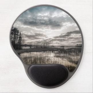 Gloomy lake gel mouse pad