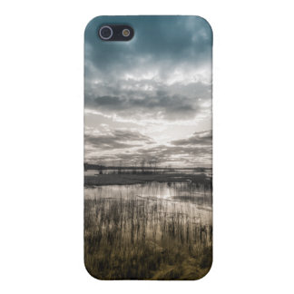 Gloomy lake iPhone 5 cover