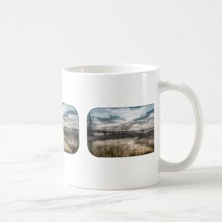 Gloomy lake coffee mugs