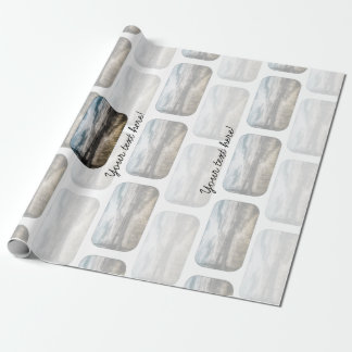 Gloomy lake wrapping paper
