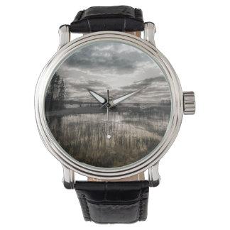 Gloomy lake wrist watches