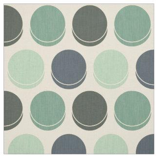 Gloomy Ocean Trendy Polka Dot Pattern Fabric