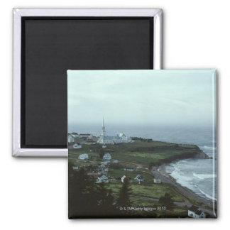 Gloomy seaside village magnet
