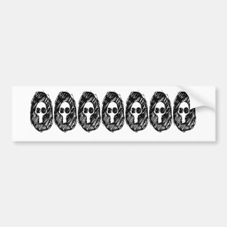 Gloomy Skull Bumper Sticker