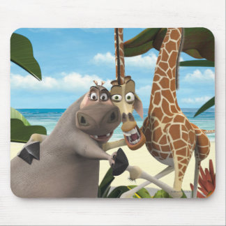 Gloria and Melman Hand Holding Mouse Mat