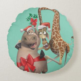 Gloria and Melman Holiday Round Cushion