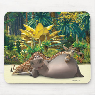 Gloria and Melman Relax Mouse Pad