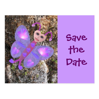 Gloria Butterfly, SavetheDate Postcard