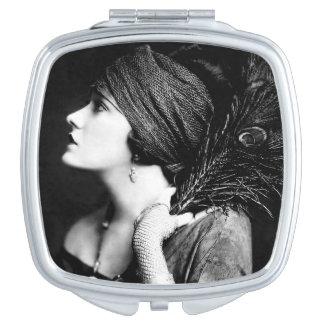 Gloria Swanson Square Compact Mirror