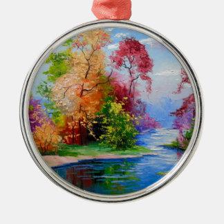 Glorious autumn christmas ornament