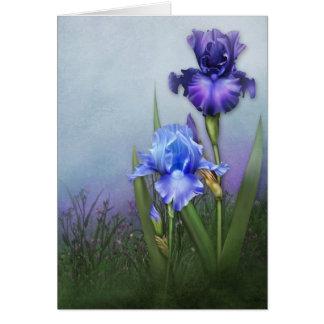 """Glorious Bearded Irises II"" Greeting Card"