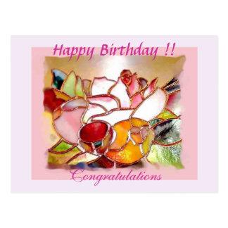 """Glorious Flower"" Happy Birthday Post Card"