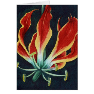 Glorious Gloriosa Lilly Watercolor Card