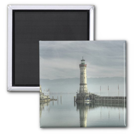 Glorious Lighthouse Square Magnet