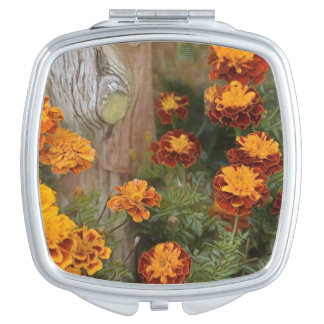 Glorious Marigolds Travel Mirror