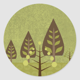 Glorious Nature Wedding Seal Round Sticker