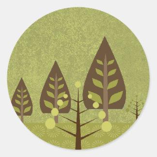 Glorious Nature Wedding Seal Round Sticker