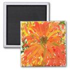 Glorious orange flower magnet