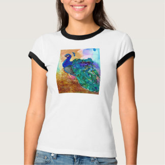 Glorious Peacock Alcohol Ink T-Shirt