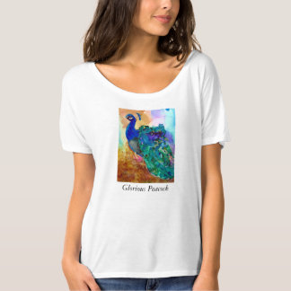 Glorious Peacock Alcohol Ink T-Shirt