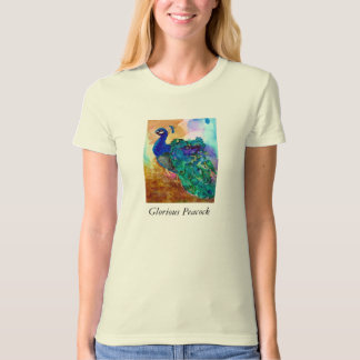 Glorious Peacock Alcohol Ink T-shirts