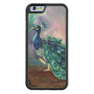 Glorious Peacock II Carved® Maple iPhone 6 Bumper Case