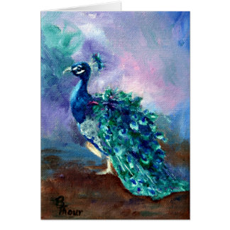 Glorious Peacock II Greeting Card