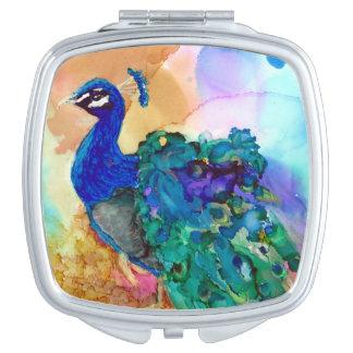 Glorious Peacock Mirror For Makeup