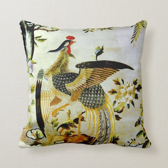 Glorious phoenix antique Chinese embroidery Cushion