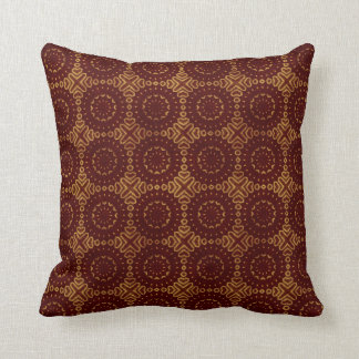 Glorious Red and Gold Pattern Cushion