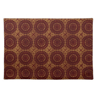 Glorious Red and Gold Pattern Place Mats