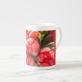 Glorious Red Tulips Tea Cup