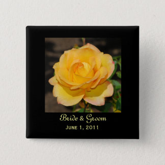 Glorious Rose Bride & Groom Button